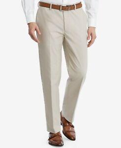 240-Tommy-Hilfiger-38w-32l-Mens-Beige-Modern-Fit-Flat-Solid-Suit-Trousers-Pants