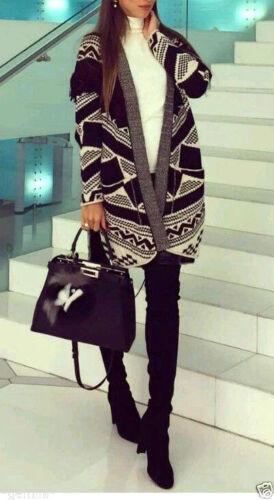 Cardigan Zara Kimono Jacquard M Fransen Jacket Taglia Ethno S Fringe Poncho Jacke YqxwnxEHFr