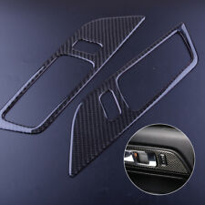Carbon Fiber Car Interior Door Handle Cover Trim for Ford Mustang 2015-2018 2pcs