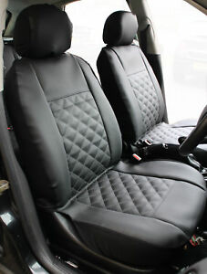 Magnificent Details About Mg Zr Front Pair Of Luxury Knightsbridge Leather Look Car Seat Covers Machost Co Dining Chair Design Ideas Machostcouk