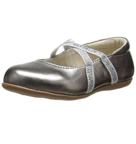 SEE KAI RUN Maelee Leather Slip-On Toddler Flats in Pewter  Sz 8 $62 B,M