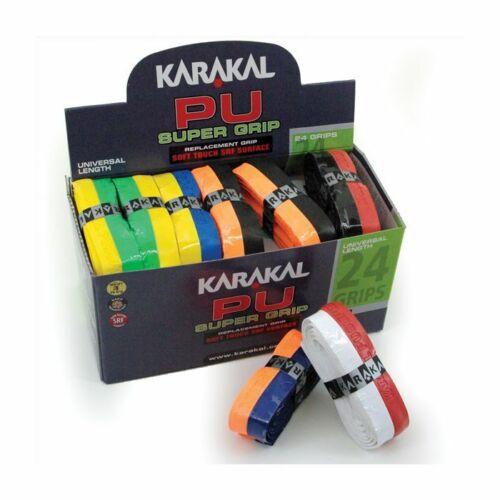 KARAKAL PU SUPER RACKET GRIP DUO ASSORTED COLOURS 24 GRIP BOX