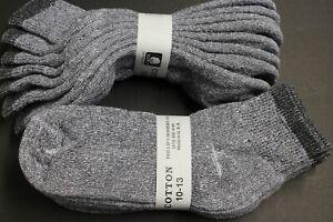4-Pair-039-s-Men-039-s-Womens-10-13-ANKLE-Socks-Cotton-White-Gray-BLACK-Athletic-M-THICK