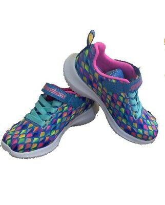 Girl/'s Toddlers Skechers Expressionista Blue//Multi-Color  10704L A28 New