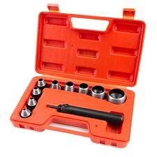 10 Pc Heavy Duty Hollow Punch Kit W/Case Tool Set Gasket Leather Rubber Holes HD