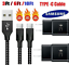 miniature 1 - 3/6/10FT Braided USB C Type-C Fast Charging Data SYNC Charger Cable Cord
