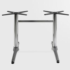 [i233] Bistro Double Table Châssis   8x72cm   Aluminium   2 Pied   Double Table Ges-tell   8x72cm   Aluminium   2 Fuß   Doppel Tisch Ges Fr-fr Afficher Le Titre D'origine Confortable Et Facile à Porter