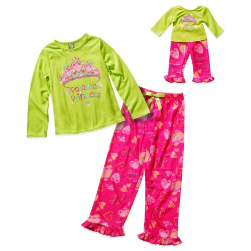 Dollie Me Girl 14 and Doll Matching Princess Pajama Set Outfit ft American Girl