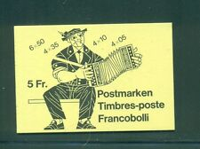 Switzerland 1984 5 Fr Monaco Scout stamp advertisement on back Booklet