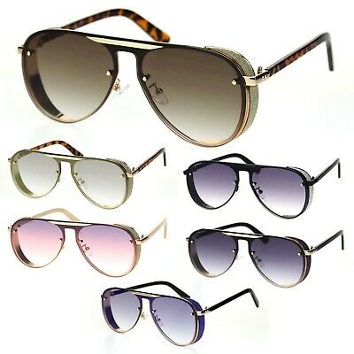 Mens Millionaire Hip Hop Luxury Metal Plate Plastic Racer Mob Aviator Sunglasses
