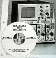 Tek 7504 Oscilloscope Instruction (ops + Serv) Manual