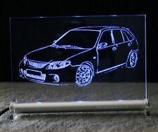MAZDA 323 GTR als  AutoGravur auf LED-Leuchtschild