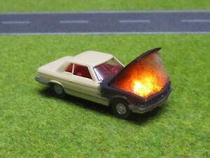 1-87-Mercedes-Benz-350-SL-R107-H0-Motorbrand-LED-12V-Feuer-Laser-Cut-Patina-24