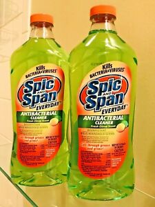 2 PK Spic and Span Antibacterial Cleaner 28 oz. Disinfectant Spray Refill Citrus