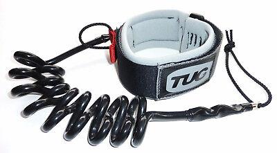 TUG ULTIMATE Series bodyboard bicep FIGr8 leash Black web Black neoprene
