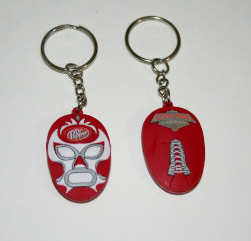 2 Dr Pepper Lucha Libre Wrestling Masked Warriors Promo Soft Key Chain New NOS