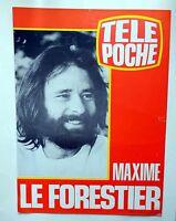 Affiche  pub télé poche tv 1979 Maxime Le Forestier  design seventies vintage