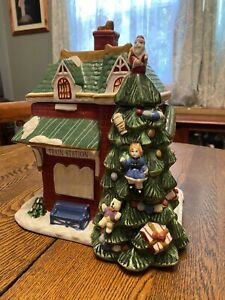 "Vintage 2002 Spode Christmas Tree Village Figural Cookie Jar 11"" Tall Rare | eBay"