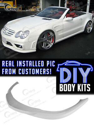 06-08 PAINTED BLACK MERCEDES BENZ R230 SL65 AMG PRE-FACELIFT GH STYLE FRONT LIP