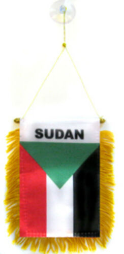 "Sudan Mini Flag 4/""x6/"" Window Banner w// suction cup"