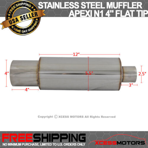 For 01-06 Lexus LS430 Stainless Steel Muffler Apexi N1 Type 4 Inch Flat Tip