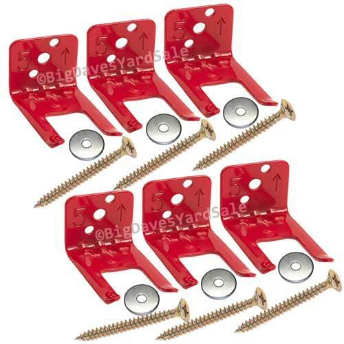 (6 Wall Hooks) Universal Mount, Hanger, Bracket for a 5 to 10 lb. Extinguisher
