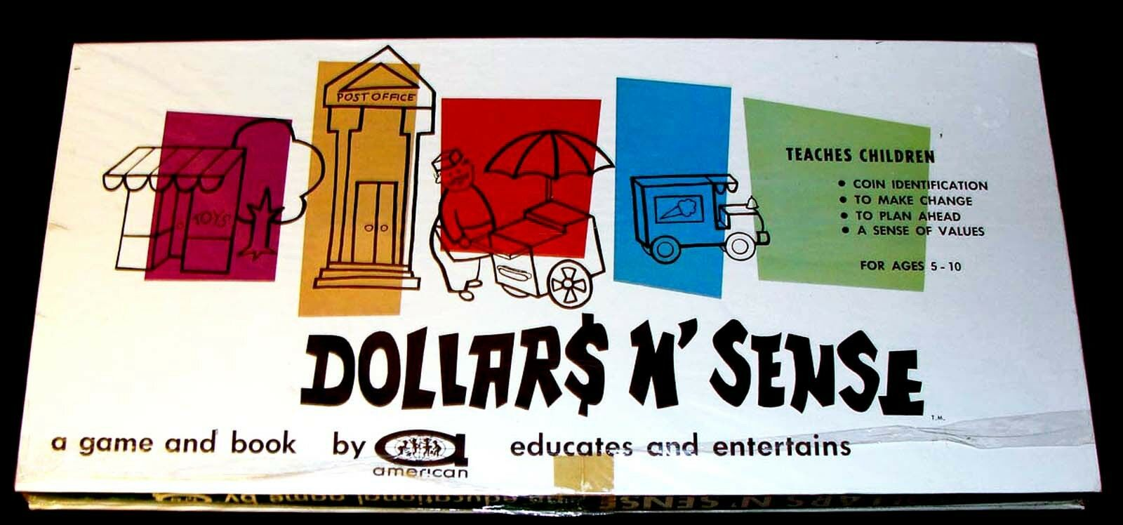 Vintage early 1960's DOLLARS N' SENSE GAME American RARE FACTORY SEALED Unopened