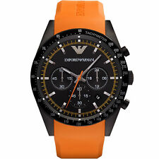 Armani Tazio Orange / Black Quartz Analog Men's Watch AR5987