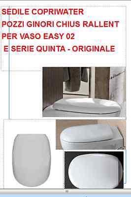 Sedile Pozzi Ginori Easy 02.Pozzi Ginori Sedile Copriwater Per Easy 02 Quinta Soft Closed Originale Ebay
