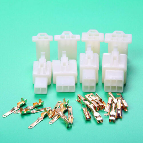 40Set X 2way 3 4 Pin 2.8mm Connector Terminals Plug Scooter Moped Electric Bike