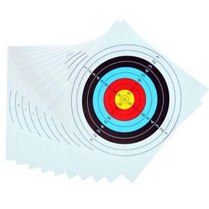 Eg-10-Pezzi-Utile-pro-Bersaglio-Carta-Tiro-con-L-039-Arco-Arco-Arrow-Calibro-Fashi