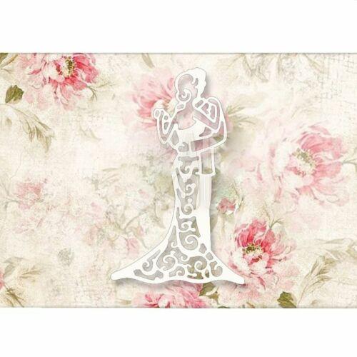 Bride Groom Dress Metal Cutting Dies Ring Wedding Stencil Scrapbooking Die Cut
