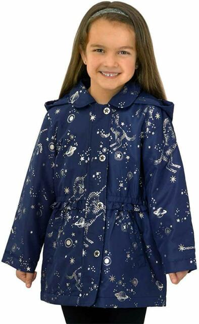 London Fog Baby Girls Quilted Midweight Jacket with Snap Closure