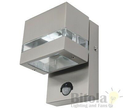 MERCATOR HEDLAND 3w LED 316 STAINLESS STEEL EXTERIOR WALL SENSOR LIGHT OUTDOOR