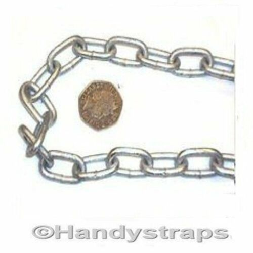 Anchor Mooring Chain 4 mm x 19mm Galvanised Lifting Boat Yacht Handy Straps