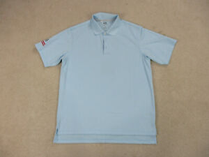 Adidas-Polo-Shirt-Adult-Extra-Large-Light-Blue-Lightweight-Casual-Golf-Mens