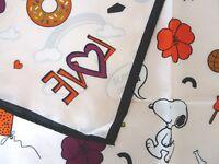 Neu!CODELLO Tuch PEANUTS SNOOPY Bandana SEIDE scarf Schal Foulard LOVE Nickituch