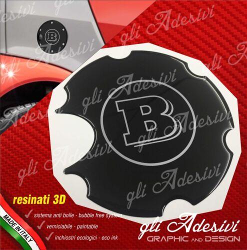 1 Klebstoff Harz Tankdeckel 3D BRABUS Smart for two 450 452 Chrom und schwarz