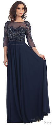 FANCY MOTHER of the GROOM BRIDE DRESS FORMAL EVENING CAP SLEEVE PLUS SIZE GOWNS