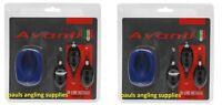 2 Sets Of Avanti Carp Fishing Swim Feeder Mix-method In Line Inline & Mould Kit