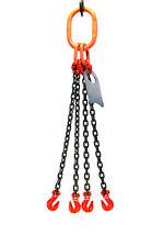 Chain Sling 932 X 10 Quad Leg With Grab Hooks Grade 80
