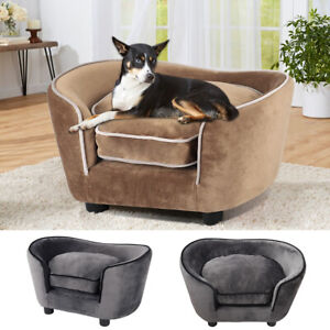 Pet-Sofa-Couch-Dog-Cat-Wooden-Frame-Sofa-Bed-Lounge-Sofa-Luxury-with-Cushion-Mat