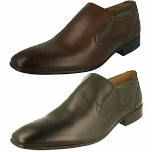 Mens-Base-London-Era-MTO-Waxy-Brown-Or-Black-Leather-Smart-Slip-On-Shoes