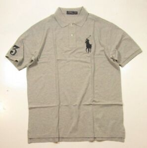 About Mesh Heather Ralph Pony Grey Tall Details Lauren Men's Shirt Polo Bigamp; Nnwymv80O