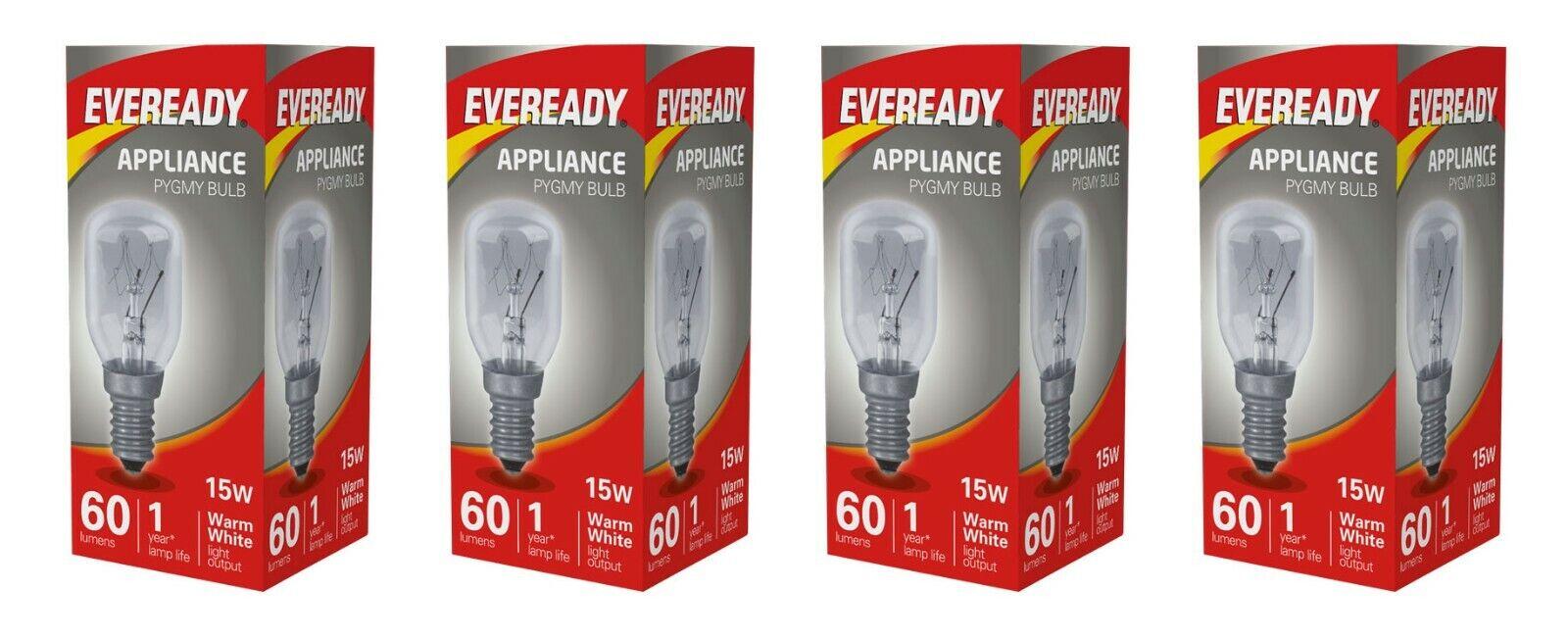 5 X FRIDGE  PIGMY LAMP LIGHT BULBS 25W E14 SMALL SCREW CAP CLEAR BULBS