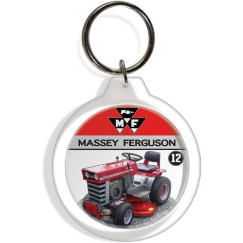MASSEY FERGUSON 12 MOWER GARDEN TRACTOR FARM KEYCHAIN KEY FOB RING KEYRING