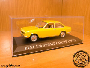 FIAT 124 SPORT COUPE 1971 YELLOW 1:43