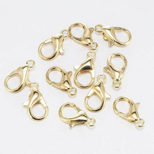 50pcs//lot Alloy Lobster Clasp Hooks for Necklace Bracelet Chain DIY Findings