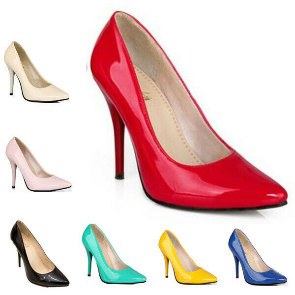 US13 Fashion Women Pointy toe Slip on Casual Stilletos OL Party Candy Color shoe