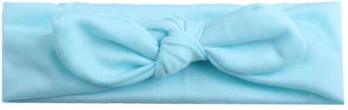 Baby Kinder Stirnband Hellblau Haarband Knoten Schleife Junge Mädchen Haar